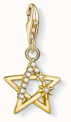 Thomas Sabo Charming   18k Yellow Gold Plated Star Charm Pendant 1851-414-14