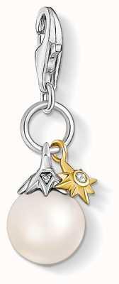 Thomas Sabo Charming   Sterling Silver Freshwater Pearl&Star Charm Pendant 1856-849-14