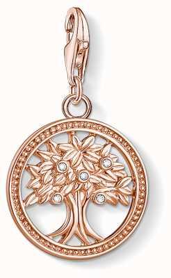 Thomas Sabo Charming   18k Rose Gold Plated Tree Of Life Charm Pendant 1861-416-14