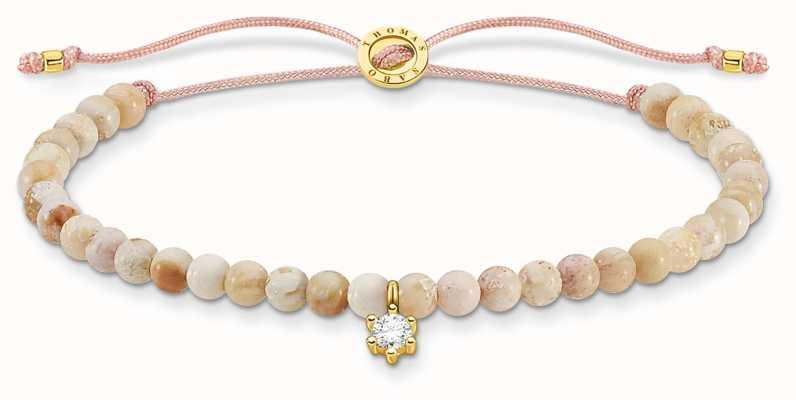 Thomas Sabo Charming | Silver Stone Pearl Beaded Tie Bracelet A1988-379-19-L20V