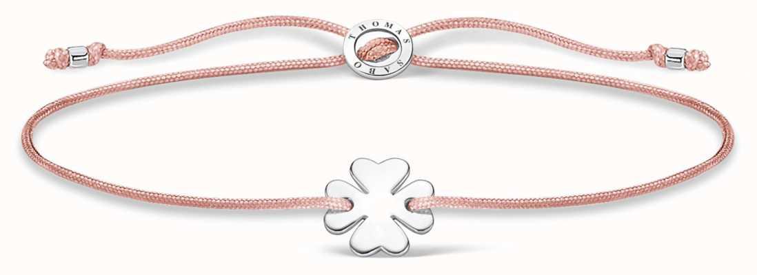 Thomas Sabo Pink Nylon Cloverleaf Bracelet A1995-173-19-L20V