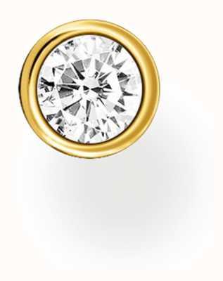 Thomas Sabo 18k Yellow Gold Plated Single Stud Earring | Single Stone H2136-414-14