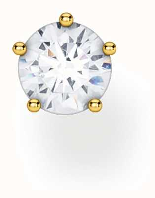 Thomas Sabo 18k Yellow Gold Single Stud Earring | Silver Stone H2148-414-14