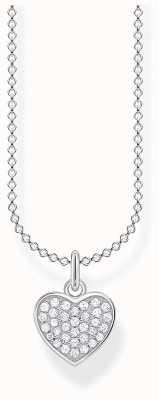 Thomas Sabo Charming | Sterling Silver Pave Heart Pendant Necklace | 36-38cm KE2046-051-14-L45V