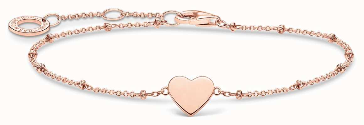Thomas Sabo Rose Gold Hearts Bracelet   Rose Gold Dots   16-19cm A1991-415-40-L19V