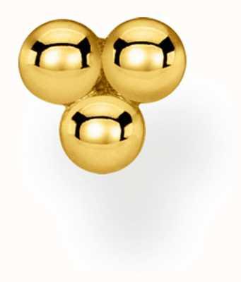 Thomas Sabo Charming | 18k Yellow Gold Plated Single Stud Dots Earring H2140-413-39