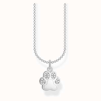 Thomas Sabo Cubic Zirconia Paw Necklace Silver  45cm KE2063-051-14-L45V