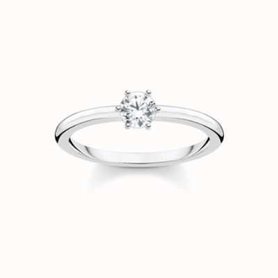 Thomas Sabo White Stone Silver Ladies Size 54 Ring TR2313-051-14-54