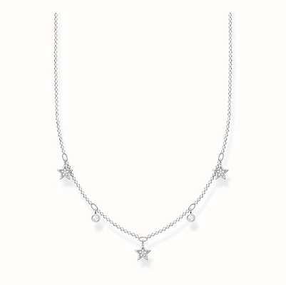 Thomas Sabo Sterling Silver White Stone Star Necklace KE2075-051-14-L45V