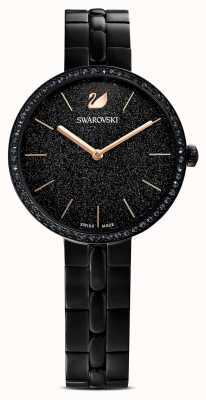 Swarovski Cosmopolitan | Black PVD Plated Bracelet |Black Glitter Dial 5547646