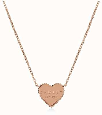 Radley Jewellery Sterling Silver Rose Gold Plated Heart Necklace RYJ2130