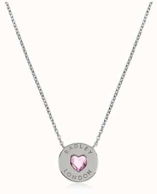 Radley Jewellery Sterling Silver Heart Disc Necklace RYJ2133