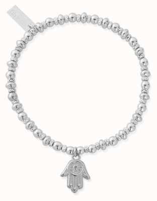 ChloBo Didi Sparkle Hamsa Hand Bracelet   Sterling Silver SBDS2005