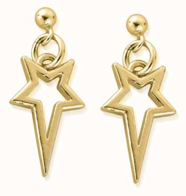 ChloBo North Star Drop Earrings | 18ct Gold Plated GEST4004