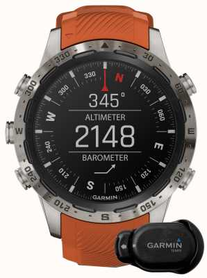 Garmin MARQ Adventurer Performance Edition   Brown Leather and Black Rubber Strap 010-02567-31