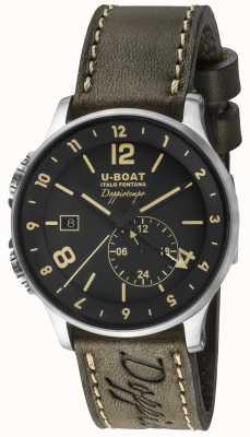 U-Boat 1938 Doppiotempo Dual Time Black Dial 8400/A