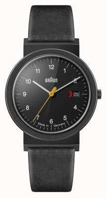 Braun Mens Classic Black Leather Strap Black Dial Black Detail AW10EVOB