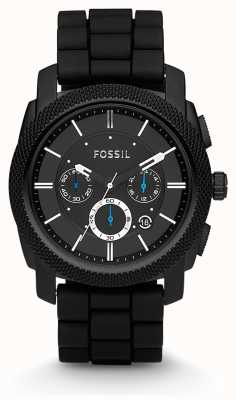 Fossil Mens Black Chronograph Strap Watch FS4487