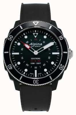 Alpina Seastrong | Horological Smartwatch | Black Silicone Strap AL-282LBB4V6