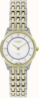 Rotary Womens Two-Tone Ultra-Slim Bracelet Watch LB08001/02