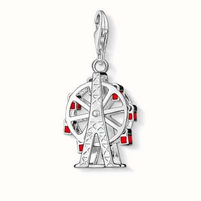 Thomas Sabo Ferris Wheel Charm Red 925 Sterling Silver Cold Enamel 0441-007-10