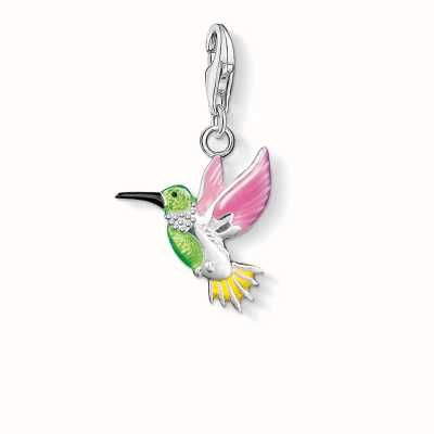 Thomas Sabo Hummingbird Charm Multicoloured 925 Sterling Silver Cold Enamel 0655-007-7