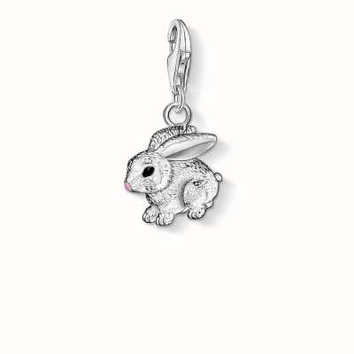 Thomas Sabo Rabbit Charm 925 Sterling Silver Cold Enamel 0819-007-12