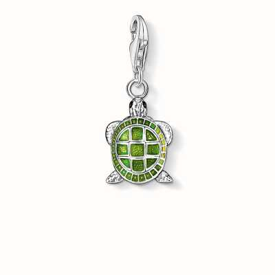 Thomas Sabo Turtle Charm Green 925 Sterling Silver Cold Enamel 0837-007-6