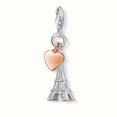 Thomas Sabo Eiffel Tower Charm 925 Sterling Silver Gold Plated Rose Gold 0904-415-12