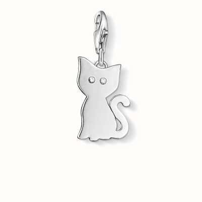 Thomas Sabo Cat Charm White 925 Sterling Silver/ Zirconia 1014-051-14