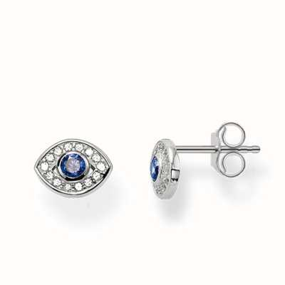 Thomas Sabo Earstuds Dark-Blue 925 Sterling Silver/ Synthetic Spinel/ Zirconia H1895-059-32