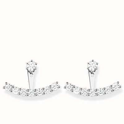 Thomas Sabo Earrings White 925 Sterling Silver/ Zirconia H1904-051-14