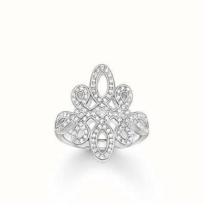 Thomas Sabo Ring White 925 Sterling Silver/ Zirconia TR1974-051-14-54