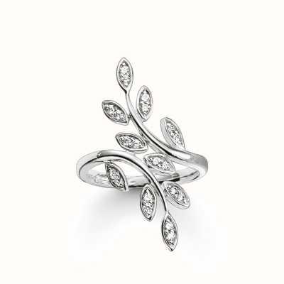 Thomas Sabo Ring White 925 Sterling Silver/ Zirconia TR2017-051-14-58