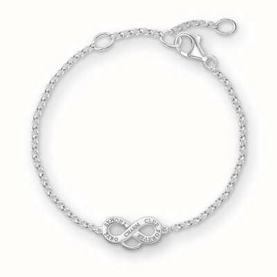 Thomas Sabo Bracelet 16.5/18/19.5cm Charm Carrier 925 Sterling Silver X0204-001-12-L19,5v